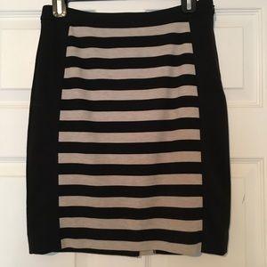 Stretch cotton skirt.